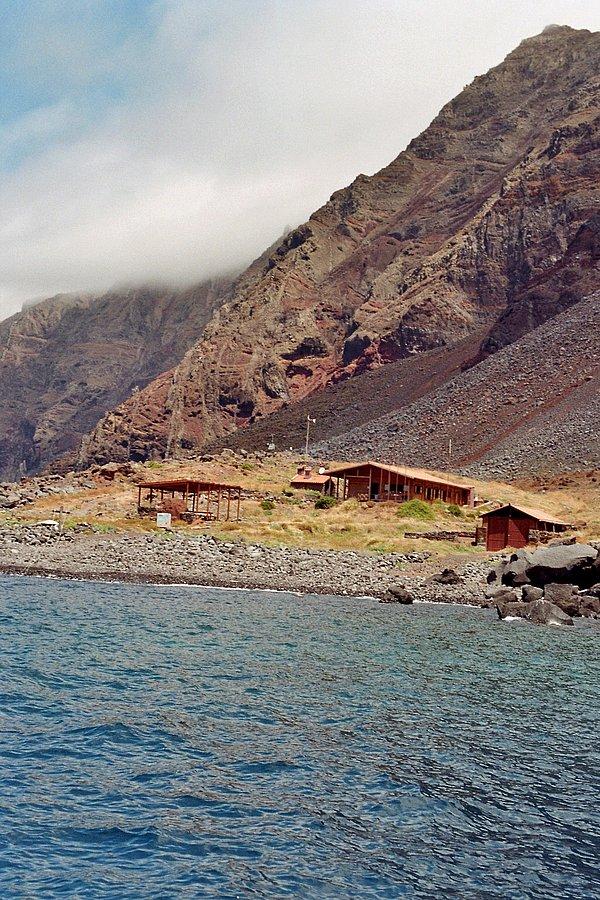 Deserta Grande mit den Häusern der Wächter